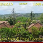 TANAH JUAL MURAH JIMBARAN BALI 1.600 m2 View laut , bukit dan hotel