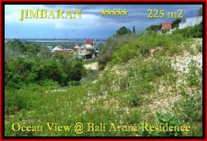 JUAL TANAH MURAH di JIMBARAN BALI 225 m2  View laut toll Lingkungan villa