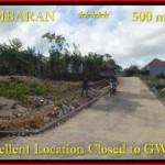 JUAL TANAH MURAH di JIMBARAN 500 m2 Lingkungan Villa
