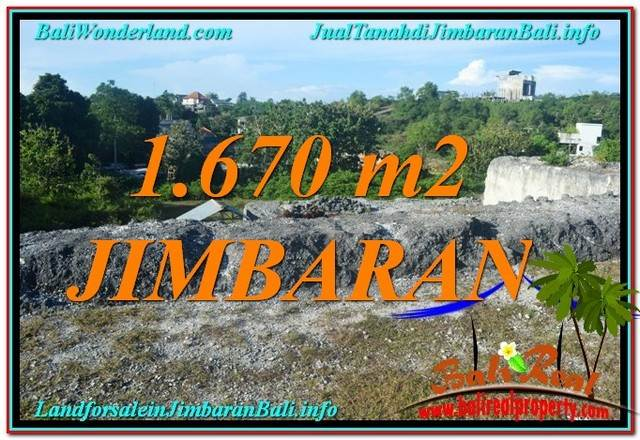 TANAH MURAH di JIMBARAN DIJUAL 1,670 m2 di Jimbaran Ungasan